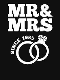 32nd wedding anniversary gift t shirt mr mrs since 1985 clic