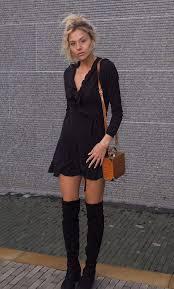 Black Wrap Frill Mini Dress By John Zack In 2019 Pretty