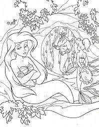 Princess Ariel Sad Coloring Page