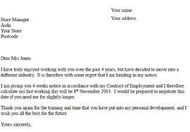 asda resignation letter
