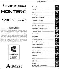 1990 mitsubishi montero repair shop manual set original covers all 1990 mitsubishi montero models including sp rs and ls these books measure 8 5 x 11 and are 2 0 thick together