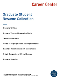 Graduate Student Resume Delectable Graduate Student Resume Collection