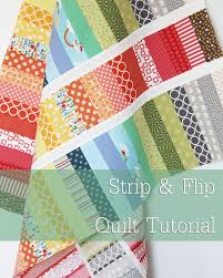 Strip and Flip Baby Quilt | Cluck Cluck Sew & This fun scrappy quilt is quick to put together and great for beginners.  Use lots of different colors to keep it bright and fun…or just a few colors  to keep ... Adamdwight.com