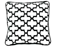 black and white outdoor pillows cushions cushion covers striped