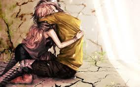 anime couple boy hug hd wallpaper desktop pc background 1600x1000
