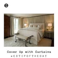 Patterned Wall? No! Just Cover It Up With Curtains!!!! Ta Da!!  #walltreatments #ESTipOfTheDay