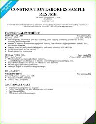 Construction Laborer Resume Sample Construction Resume Samples Airexpresscarrier Com