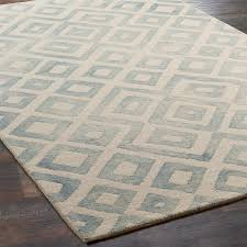 diamond pattern tie rug shades of light