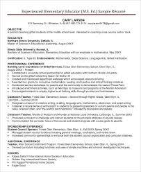 Experienced Elementary Teacher Resume Filename Joele Barb