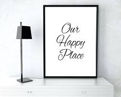 prints for office walls. Prints For Office Walls Home Decor Wall Poster Our Happy Place