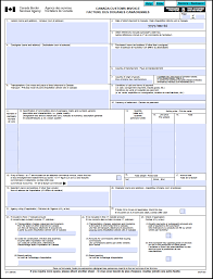Free Canada Customs Commercial Invoice Template Form Ci1 Excel Blank