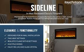 com touchstone sideline recessed mounted electric pertaining to fireplace idea 12