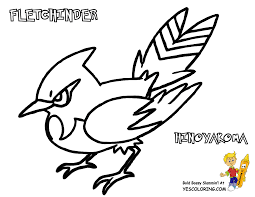 Coloring Pages For Kids Pokemon Fletcing Printable Coloring Page