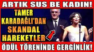 Tamer Karadağlı'dan Skandal Hareketler! Ödül Töreninde Nihal Yalçına Büyük  Saygısızlık! Sus Be Kadın - YouTube