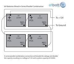 12 volt battery wiring in series wiring diagram show how to wire 6v batteries in series or parallel configuration 3 12 volt batteries wired in series 12 volt battery wiring in series