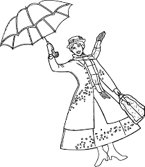 mary poppins coloring book new mary poppins umbrella coloring page 2934 3389