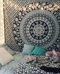 black and white indian elephant mandala tapestry wall hanging hippie bedspread royalfurnish  on black art tapestry wall hangings with black and white indian elephant mandala tapestry wall hanging hippie