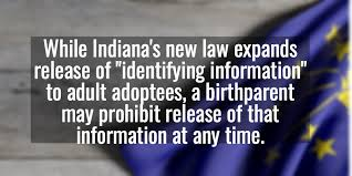 Law Indiana Original Adoptee Rights Birth Certificates
