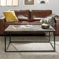 manor park 42 transitional mixed material coffee table dark concrete