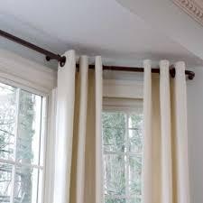 Bay window ideas window-treatments. Bay Window Curtain RodCurtains ...
