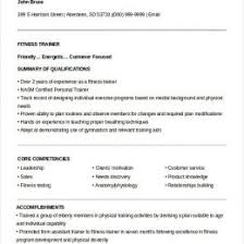 Resume Of Trainer Fitness Trainer And Manager Resume 340148340801 Fitness Trainer