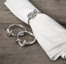 View in gallery Nickel knot napkin rings