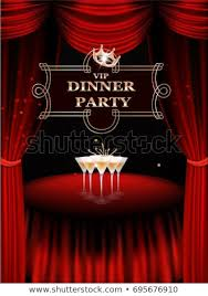 Invitation Card For Dinner Party Vip Dinner Party Invitation Card Table Stock Vector Royalty Free
