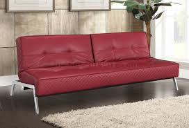 innovative red leather sleeper sofa great home renovation ideas with leather sofa sleeper white leatherette modern