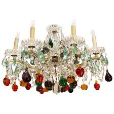 mid century maria theresa chandelier with fruit crystals