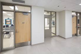 fire rated glass doors provide visibility