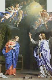 the annunciation c 1645 philippe de champaigne painting reion