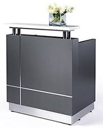 Amazon.com : Small Modern reception desk (No installation required) :  Office Products
