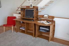 eco friendly office furniture. Desk Peninsula With Shelf, Shown 36-inch Hutch And Accessories Shelf On Top (Note: Eco Friendly Office Furniture