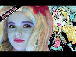 draculaura monster high doll costume makeup tutorial