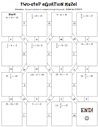 solving two step equations maze answers tessshlo