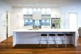 One Wall Kitchen Designs With An Island Interior New Design Ideas