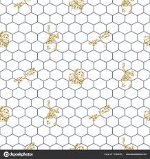 Verrekening Overzicht Naadloze Patroon Met Gouden Glitter Insecten