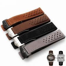 genuine leather scrub watch strap 22mm breathable cow leather watch band folding clasp brown black accessories bracelet military watch bands watch bands for