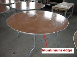 new 60 round wood folding tables table w aluminum edge party event als