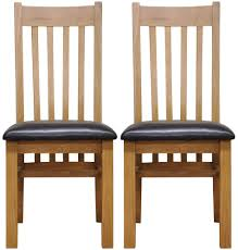 Leather Seat Dining Chairs