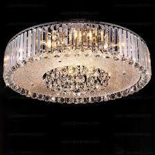 stunning crystal flush mount ceiling light 236 inch diameter for attractive house flush chandelier ceiling lights decor