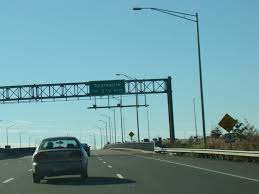 the driscoll bridge which carries the garden state parkway nj 444 is visible to the right