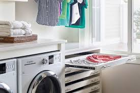 Brilliant small functional laundry room decoration ideas Ruth Utility Room With Drying Draws Instagram pinneydesigns Utility Room And Laundry Room Loveproperty 36 Brilliant Utility And Laundry Room Ideas Lovepropertycom
