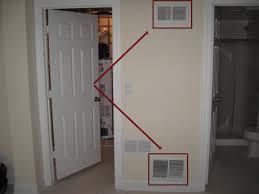 water heater closet door vents best
