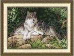 Вышивки крестиком волков
