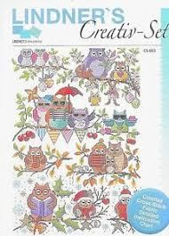 Details About Four Seasons Owls Counted Cross Stitch Chart W Aida Cloth By Creativ Set New