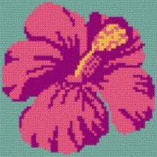 Latch Hook Rug Pattern Chart Hibiscus And 50 Similar Items