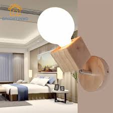 Us 1184 20 Offmodern Wooden Wall Lamp Adjustable Bedside Night Light Fixture Indoor Wall Mounted Light Fitting For Living Room Brightinwd In Led