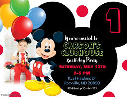 Downloadable Birthday Invitations Mickey Mouse Birthday Invitation Template Postermywall
