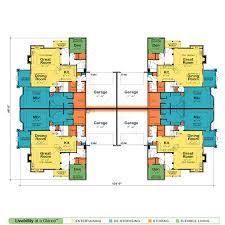 Waynesville  Quadplex 7631  French Country Home Plan At Design Quadplex Plans